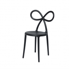 Krzesło czarne Ribbon QeeBoo 45,5×49,5×83,5cm
