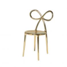 Krzesło złote Ribbon QeeBoo 50,5×45,8×83,5cm