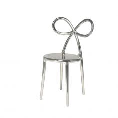 Krzesło srebrne Ribbon QeeBoo 50,5×45,8×83,5cm