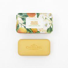 Mydło Orange Verbena w metalowym pudełku Castelbel 180g.