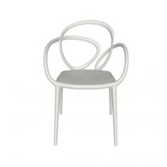 Krzesło białe Loop QeeBoo 52x56x84cm komplet 2szt.