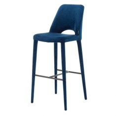 Krzesło barowe Barstool Holy Velvet Blue Pols Potten