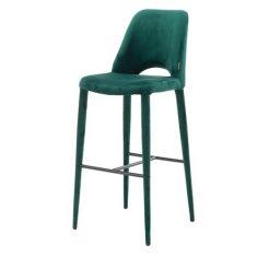Krzesło barowe Barstool Holy Velvet Green Pols Potten