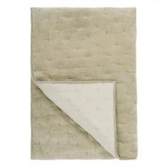 Narzuta Sevanti Dove Small Quilted Throw Designers Guild bbhome