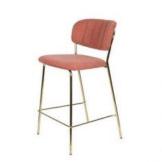 Krzesło barowe Jolien Pink 48x43x89cm