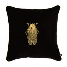 Poduszka dekoracyjna Cicada Insectarium Black N°8 Maja Laptos Studio 45x45cm