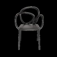 Krzesło czarne Loop QeeBoo 52x56x84cm komplet 2szt.