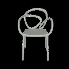 Krzesło szare Loop QeeBoo 52x56x84cm komplet 2szt.