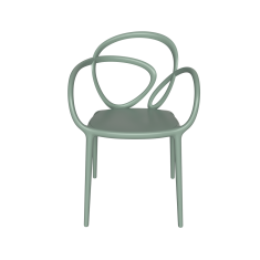 Krzesło jasnozielone Loop QeeBoo 52x56x84cm komplet 2szt.