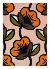 Różowy Dywan w Kwiaty PASSION FLOWER PINK 059602 Orla Kiely