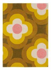 Kolorowy Dywan w Kwiaty – PULSE YELLOW 06036 Orla Kiely
