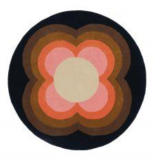 Okrągły Kolorowy Dywan w Kwiaty – SUNFLOWER PINK 060005 Orla Kiely