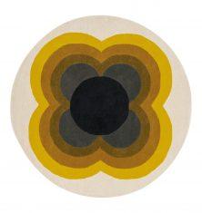 Okrągły Kolorowy Dywan w Kwiaty – SUNFLOWER YELLOW 060006 Orla Kiely