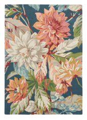 Granatowy Dywan w Kwiaty – DAHLIA ROSEHIP TEAL 050608 Sanderson