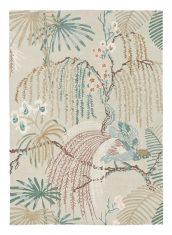 Szary Dywan w Kwiaty – RAIN FOREST ORCHID GREY 050701 Sanderson