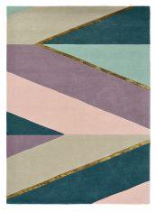 Beżowo Fioletowy Dywan Geometryczny – SAHARA PINK 56102 Ted Baker