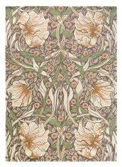 Beżowo Zielony Dywan w Kwiaty – PIMPERNEL AUBERGINE 28805 Morris & Co.