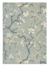Błękitno Szary Dywan w Kwiaty – ANTHEA CHINA BLUE 47107 Sanderson