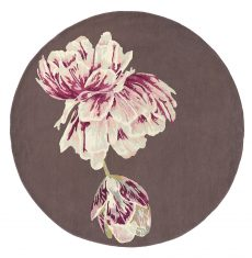 Brązowo Różowy Dywan Okrągły – TRANQUILITY ROUND AUBERGINE 56005 Ted Baker