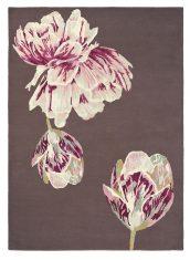 Brązowo Różowy Dywan w Kwiaty – TRANQUILITY AUBERGINE 56005 Ted Baker