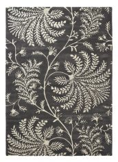 Czarno Biały Dywan w Kwiaty  – MAPPERTON GRAPHITE 45905 Sanderson