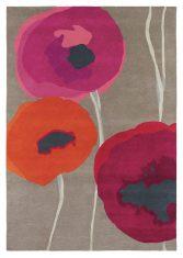 Czerwono Beżowy Dywan w Kwiaty – POPPIES RED ORANGE 45700 Sanderson