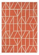 Czerwony Dywan Geometryczny - VISO PAPRIKA 24003 Scion Living