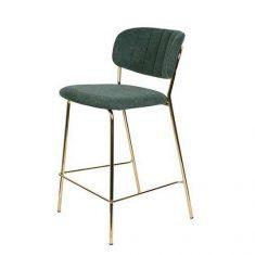 Krzesło barowe Jolien Green 48x43x89cm
