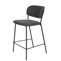Krzesło barowe Jolien Grey/Black 48x43x89cm