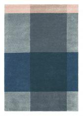 Niebieski Dywan Geometryczny – PLAID GREY 57804 Ted Baker