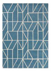 Niebieski Dywan Geometryczny – VISO DENIM 24008 Scion Living