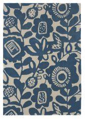 Niebieski Dywan w Kwiaty – KUKKIA INK 24508 Scion Living