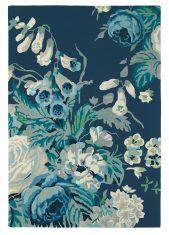 Niebieski Dywan w Kwiaty – STAPLETON PARK ADMIRAL BLUE 45308 Sanderson