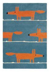Niebiesko Pomarańczowy Dywan Dziecięcy – MR FOX DENIM 25318 Scion Living