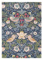 Niebiesko Zielony Dywan w Kwiaty – STRAWBERRY THIEF INDIGO 27708 Morris & Co.