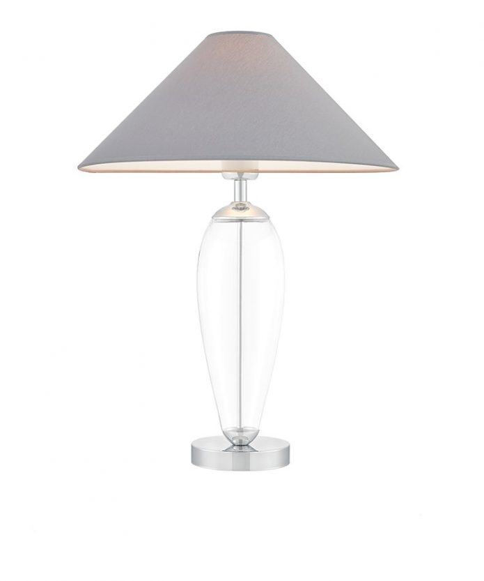 Lampa stołowa Rea Black/Chrome Kaspa bbhome