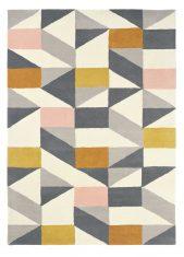 Szaro Żółty Dywan Geometryczny – NUEVO BLUSH 26102 Scion Living