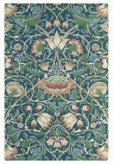 Zielono Niebieski Dywan w Kwiaty – LODDEN INDIGO MINERAL 27808 Morris & Co.