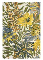 Zielono Żółty Dywan w Kwiaty – FLOREALE MAIZE 44906 Harlequin