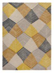 Żółto Szary Dywan Geometryczny – RHYTHM SAFFRON 40906 Harlequin
