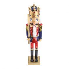 Figurka Nutcracker King Blue Red BBHome 50cm