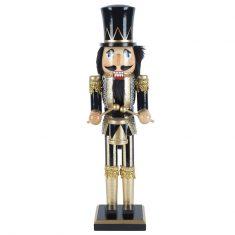 Figurka Nutcracker Drummer Black BBHome 38cm