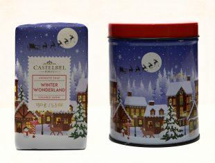 Zestaw świąteczny Winter Wondreland Castelbel mydło, świeca i kartka