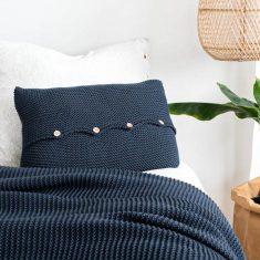 Poduszka z guzikami Navy Blue moyha bbhome