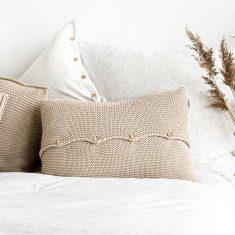 Poduszka z guzikami Beige moyha bbhome