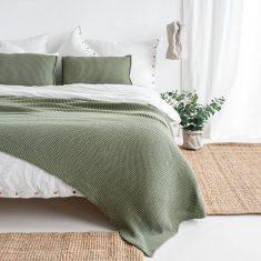 Pled Leniwy Poranek Green MOYHA 150x240cm