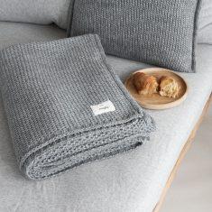 Pled Soft Nap Grey MOYHA 130x180cm