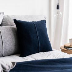 Poduszka bawełniana Favorite Navy Blue MOYHA 45x45cm