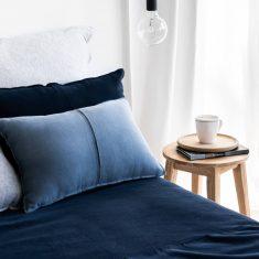 Poduszka bawełniana Favorite Blue 55x35cm