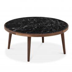 Okrągły stolik kawowy AMARANTH z kamieniem Ziemann Ø80cm